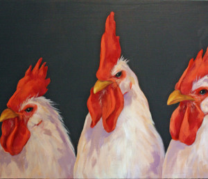 Three-Roosters