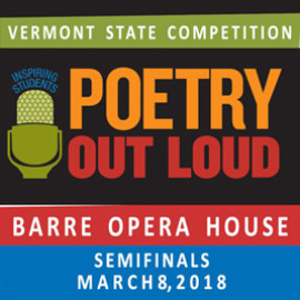 Vermont Poetry Out Loud 2018 Semifinals