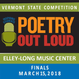 Vermont Poetry Out Loud 2018 State Championship