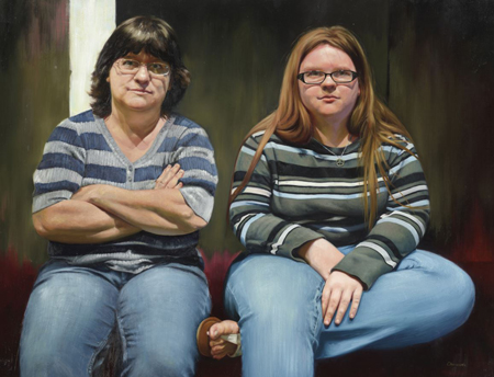"Candice Chovanec's ""My Mother and Her Daughter"" portrays the artist's mother and sister."