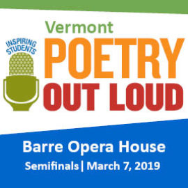 Vermont Poetry Out Loud 2019 Semifinals
