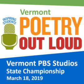 Vermont Poetry Out Loud 2019 State Championship