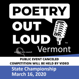 Poetry Out Loud 2020 State Championship