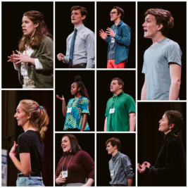 The Vermont Poetry Out Loud 2020 State Finalists. Photos by Sam Simon.