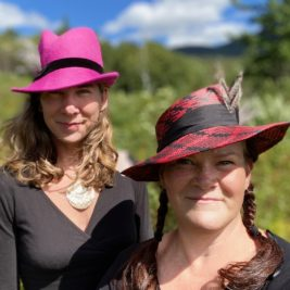 Sam Stone (left) and Nora Swan of Swan&Stone Millinery.