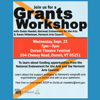Grants Workshop with the Vermont Arts Council and the National Endowment for the Arts
