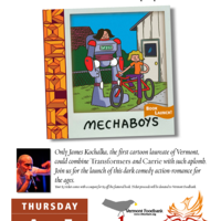 Book launch celebration for Mechaboys