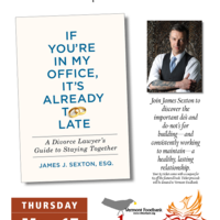 Book talk on  If You're In My Office, It's Already Too Late: A Divorce Lawyer's Guide to Staying Together
