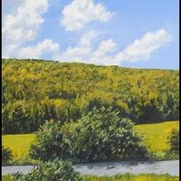 Hillsides and Hexagons - Paintings by Nick DeFriez