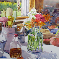 "Southern Vermont Arts Center ""Still Life Watercolor Painting of Vermont's Summer Bounty"""