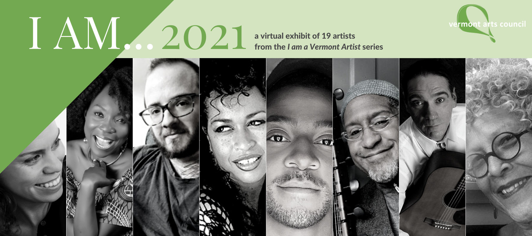 8 of 19 artists featured in the I AM... 2021 virtual exhibit
