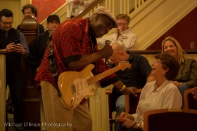 Buddy Guy in the audience at Rutland's Paramount Theater