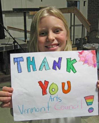 Thank You! Arts Vermont Council