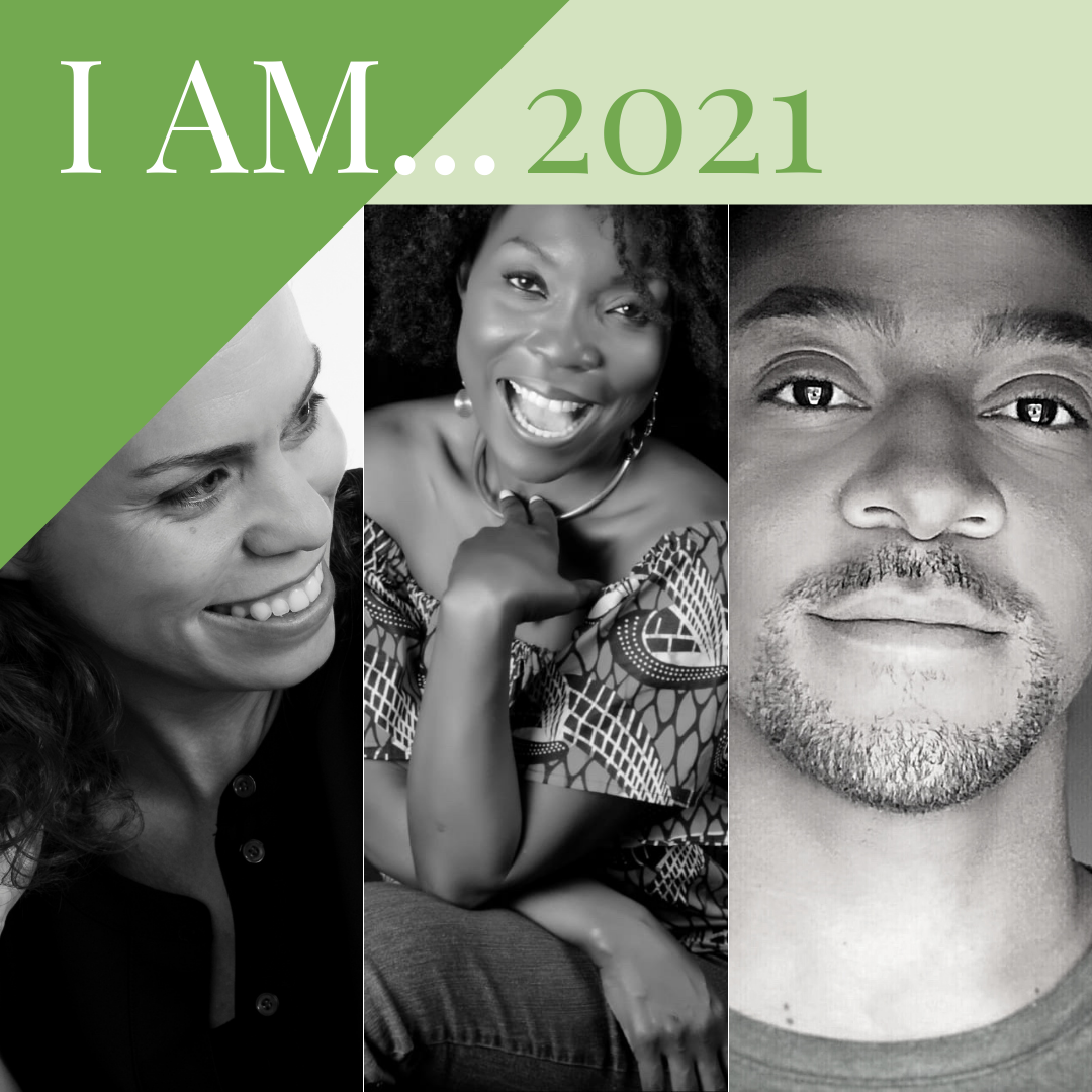 Jericho Parms, KeruBo, and Shani Stoddard, 3 artists from the I AM... 2021 virtual exhibit.