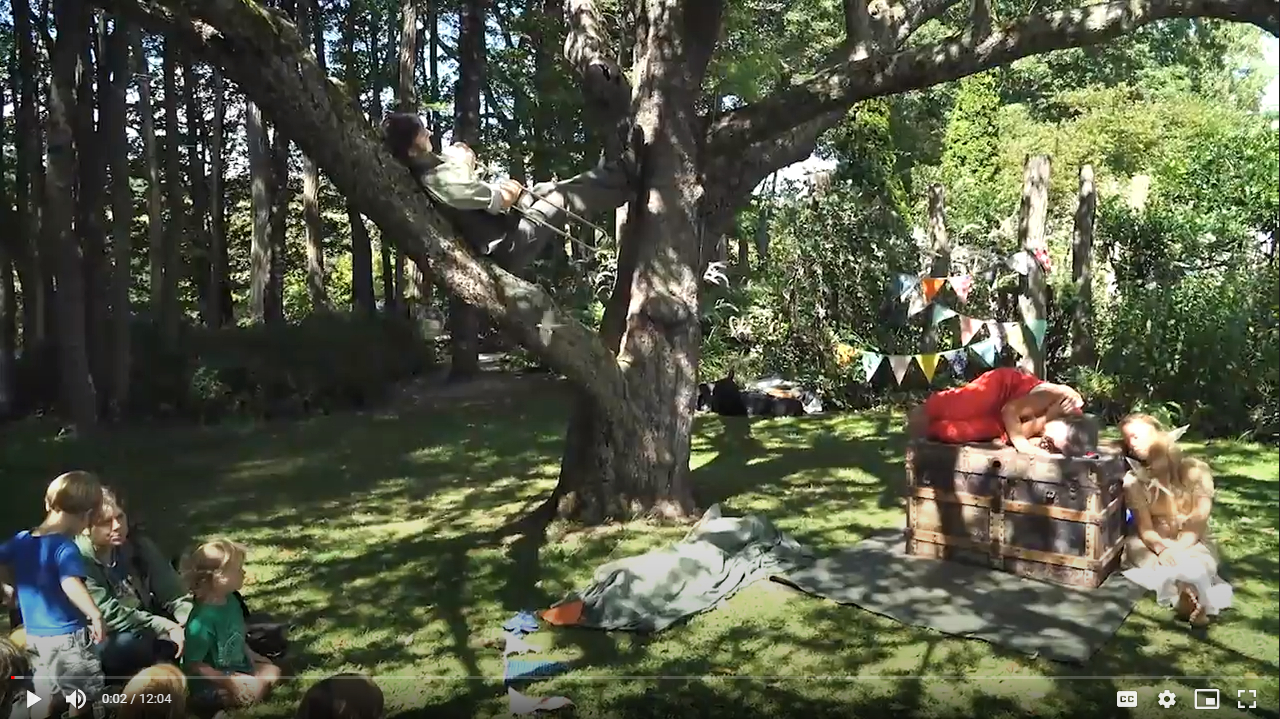 A screenshot from Nettie Lu Lane's video of Puppets in Paradise