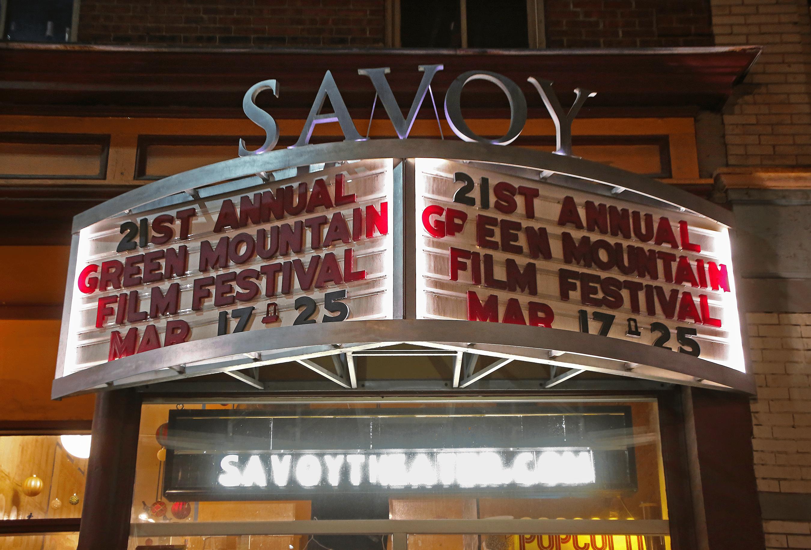 The Savoy Theatre marquee in Montpelier