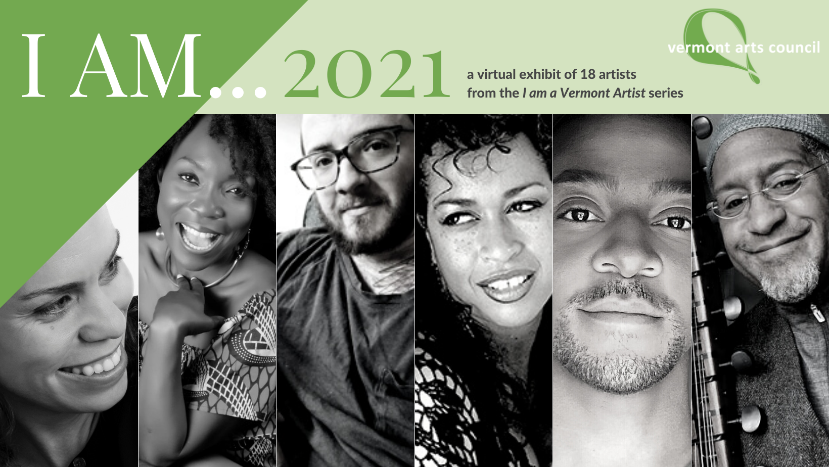 5 of 19 featured artists, from left to right: Jericho Parms, KeruBo Webster, Toby MacNutt, Samirah Evans, Shani Stoddard, John Hughes