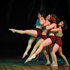Dancers in Big Teeth Collective performing together.