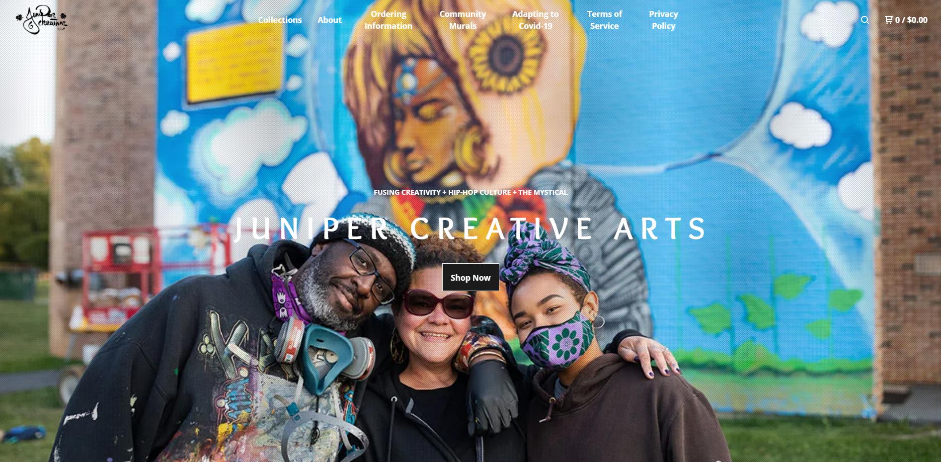 The Juniper Creative website homepage